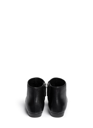 Back View - Click To Enlarge - Giuseppe Zanotti Design - Stud toe cap leather ankle boots