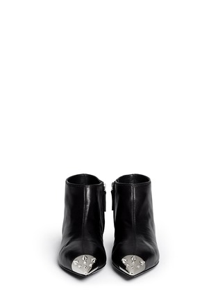 Figure View - Click To Enlarge - Giuseppe Zanotti Design - Stud toe cap leather ankle boots