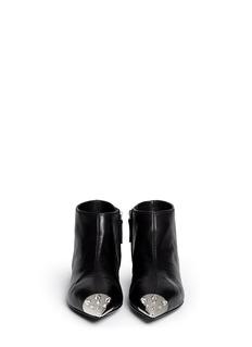 GIUSEPPE ZANOTTI DESIGNStud toe cap leather ankle boots