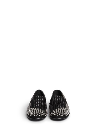 Figure View - Click To Enlarge - Giuseppe Zanotti Design - Multi stud suede slip-ons