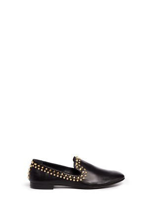 Main View - Click To Enlarge - Giuseppe Zanotti Design - 'Kevin' stud leather slip-ons