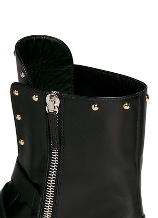 Detail View - Click To Enlarge - Giuseppe Zanotti Design - 'Morrison' stud buckle leather boots