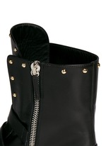 'Morrison' stud buckle leather boots