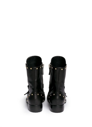 Back View - Click To Enlarge - Giuseppe Zanotti Design - 'Morrison' stud buckle leather boots