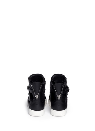 Back View - Click To Enlarge - Giuseppe Zanotti Design - 'London' buckle strap high top sneakers