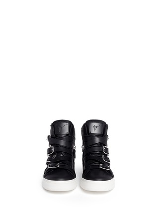 Figure View - Click To Enlarge - Giuseppe Zanotti Design - 'London' buckle strap high top sneakers