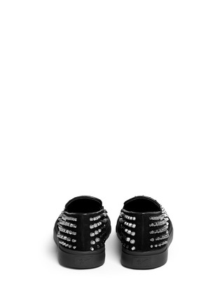 Back View - Click To Enlarge - Giuseppe Zanotti Design - 'Camoscio' multi stud suede slip-ons
