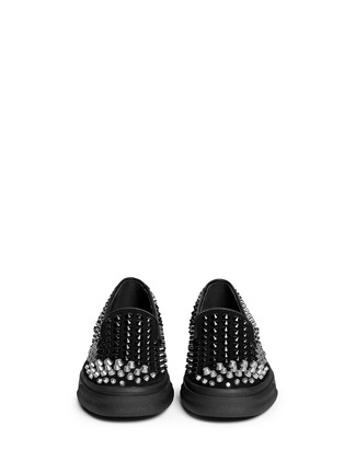 Figure View - Click To Enlarge - Giuseppe Zanotti Design - 'Camoscio' multi stud suede slip-ons