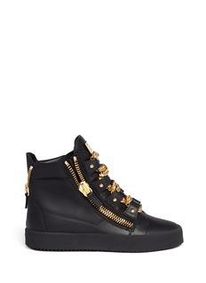 GIUSEPPE ZANOTTI DESIGN'London' curb chain leather sneakers