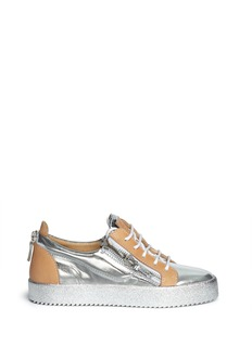 GIUSEPPE ZANOTTI DESIGN'London' mirror leather sneakers