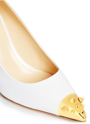 Detail View - Click To Enlarge - Giuseppe Zanotti Design - 'Yvette' stud toe cap patent leather pumps