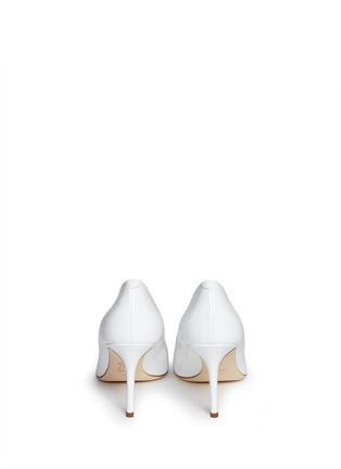 Back View - Click To Enlarge - Giuseppe Zanotti Design - 'Yvette' stud toe cap patent leather pumps