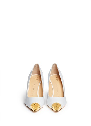 Figure View - Click To Enlarge - Giuseppe Zanotti Design - 'Yvette' stud toe cap patent leather pumps