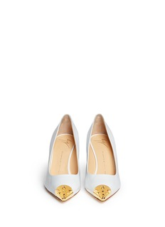 GIUSEPPE ZANOTTI DESIGN 'Yvette' stud toe cap patent leather pumps