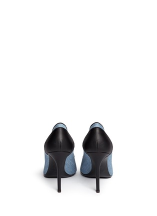Back View - Click To Enlarge - Giuseppe Zanotti Design - Stud toe denim pumps