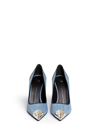 Figure View - Click To Enlarge - Giuseppe Zanotti Design - Stud toe denim pumps