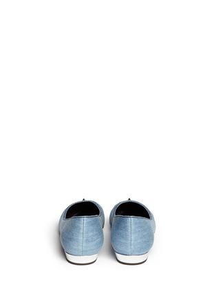 背面 - 点击放大 - GIUSEPPE ZANOTTI DESIGN - 金属铆钉牛仔尖头平底鞋