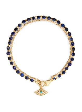 Main View - Click To Enlarge - Astley Clarke - 'Evil Eye' 18k gold lapis lazuli friendship bracelet - Protection & Friendship