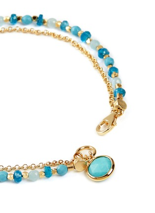 Detail View - Click To Enlarge - ASTLEY CLARKE - 'Be Very Cool' 18k gold turquoise friendship bracelet - Strength & Peace