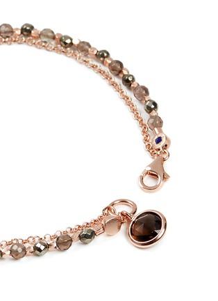 Detail View - Click To Enlarge - ASTLEY CLARKE - 'Prosperity' 18k rose gold pyrite friendship bracelet - Energy & Prosperity