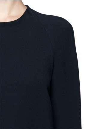 Detail View - Click To Enlarge - Chloé - Round neck crepe top