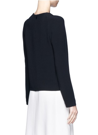 Back View - Click To Enlarge - Chloé - Round neck crepe top