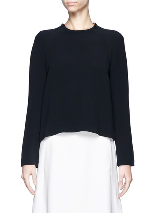 Main View - Click To Enlarge - Chloé - Round neck crepe top