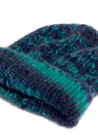 Detail View - Click To Enlarge - THE ELDER STATESMAN - 'Straight Ski' chunky knit cashmere beanie