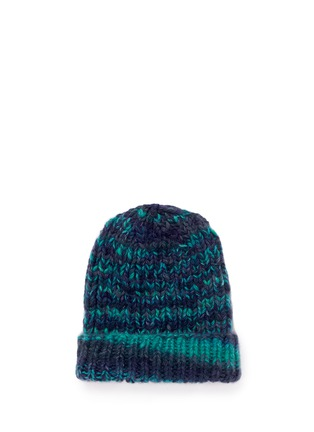Main View - Click To Enlarge - THE ELDER STATESMAN - 'Straight Ski' chunky knit cashmere beanie