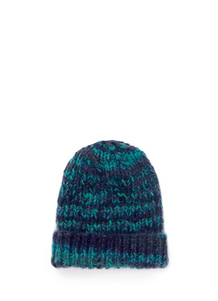 Figure View - Click To Enlarge - THE ELDER STATESMAN - 'Straight Ski' chunky knit cashmere beanie