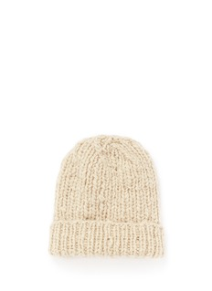 THE ELDER STATESMAN 'Straight Ski' chunky knit cashmere beanie