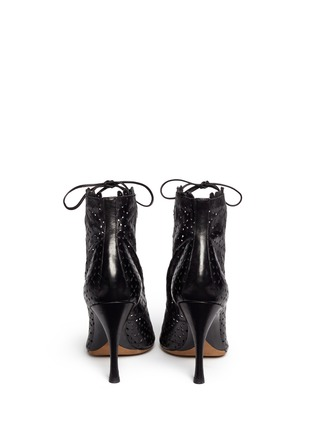 Back View - Click To Enlarge - TABITHA SIMMONS - 'Bonai' perforated leather lace-up boots