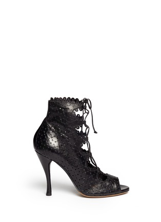 Main View - Click To Enlarge - TABITHA SIMMONS - 'Bonai' perforated leather lace-up boots