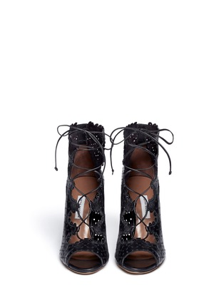 Figure View - Click To Enlarge - TABITHA SIMMONS - 'Bonai' perforated leather lace-up boots