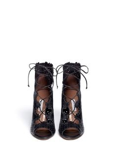 TABITHA SIMMONS 'Bonai' perforated leather lace-up boots