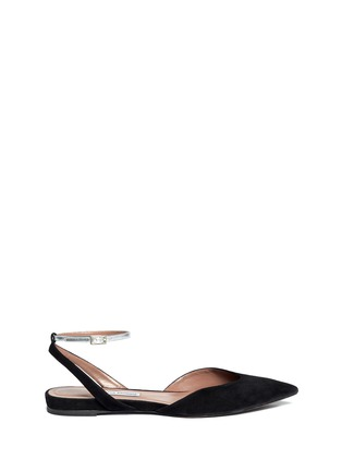 Main View - Click To Enlarge - TABITHA SIMMONS - 'Vera' metallic strap suede flat sandals