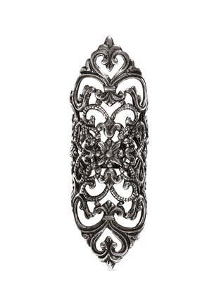 Main View - Click To Enlarge - Ela Stone - 'Dentelle' lace filigree ring