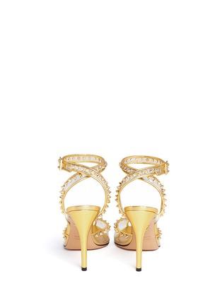 Back View - Click To Enlarge - Charlotte Olympia - 'Soho' stud PVC peep toe pumps