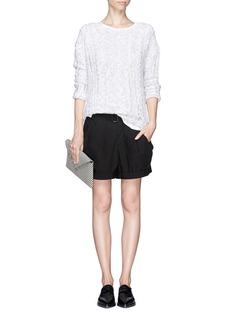 HELMUT LANGDent pleat front shorts