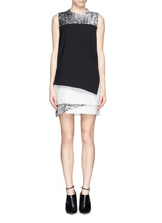 HELMUT LANG'Resid' print layer dress