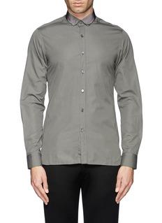 LANVINGrosgrain collar poplin shirt