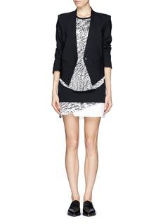 HELMUT LANGResid print layer skirt