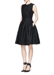 MS MINPleated wool blend dress