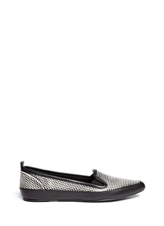 PROENZA SCHOULER Geometric effect leather slip-ons
