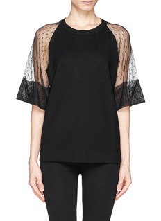 SEE BY CHLOÉLace sleeve T-shirt