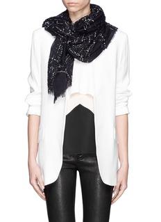 FALIERO SARTI'Prince' metallic tweed scarf