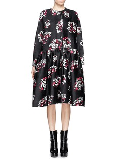 MS MINOversized floral print wool-cashmere coat