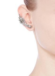 ASSAD MOUNSERCrystal single earring and cuff