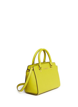 Front View - Click To Enlarge - Michael Kors - 'Selma' medium saffiano leather satchel