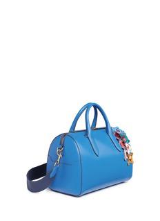 Anya Hindmarch'Vere Barrel Hedra' geometric cutout leatherwork duffle bag